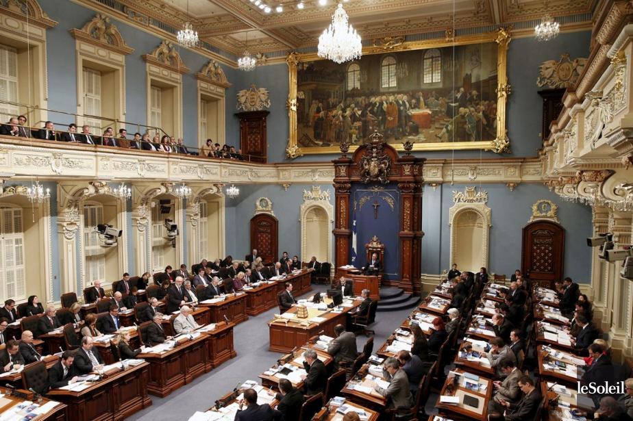 Le Salon bleu de l'Assemblée nationale.... (Archives, Le Soleil)