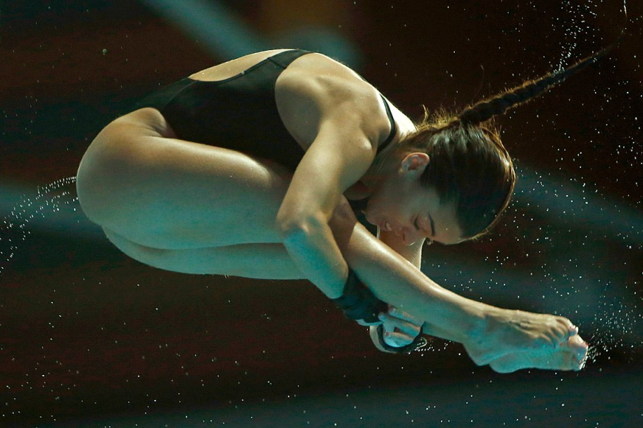 Meaghan Benfeito... (PHOTO HANNIBAL HANSCHKE, ARCHIVES REUTERS)