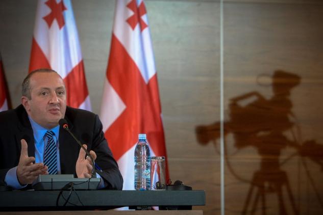 Le président de la Géorgie,Guiorgui Margvelachvili, appelle la... (Photo tirée de Twitter)