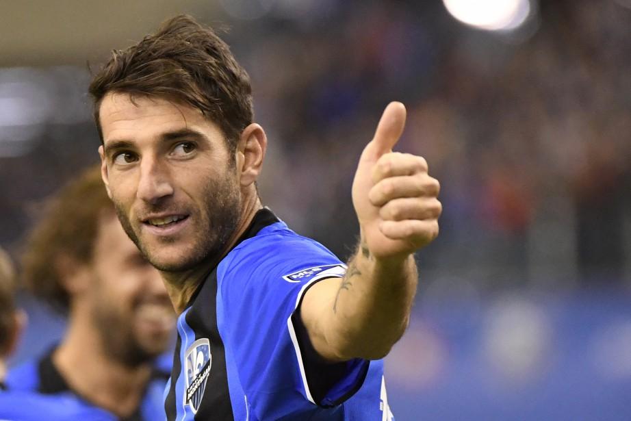 Ignacio Piatti a marqué le deuxième but de son équipe. L'Impact semblait alors en plein contrôle de la partie. (Photo Bernard Brault, La Presse)