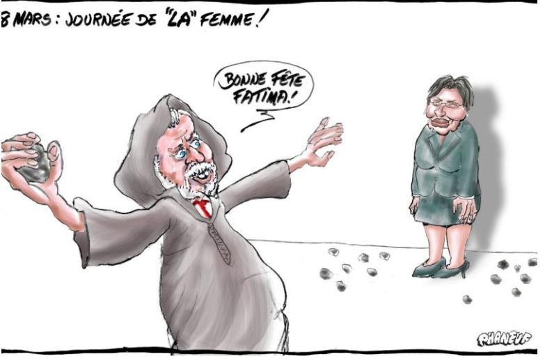 La caricature publiée dans le Courrier du Sud... (ILLUSTRATION TIRÉE DE L'INTERNET)