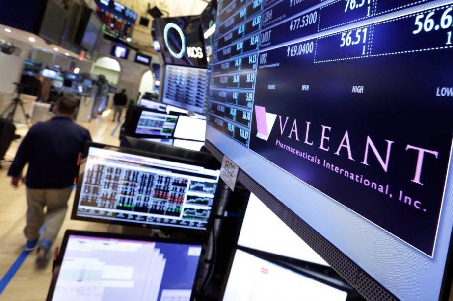 La pharmaceutiqueValeanta brièvement été la plus grande société... (Photo archives Associated Press)