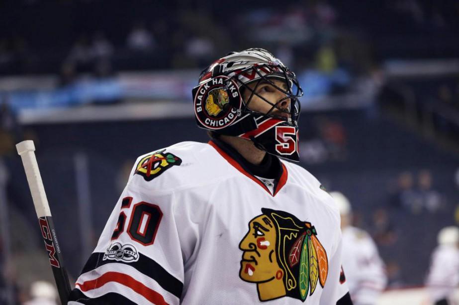 Corey Crawford... (PhotoBruce Fedyck, archives USA TODAY Sports)