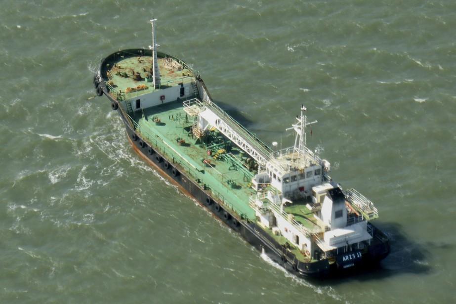 Le navire-citerne Aris13.... (Photo Kevin Finnigan, archives Tropic Maritime Images via AP)
