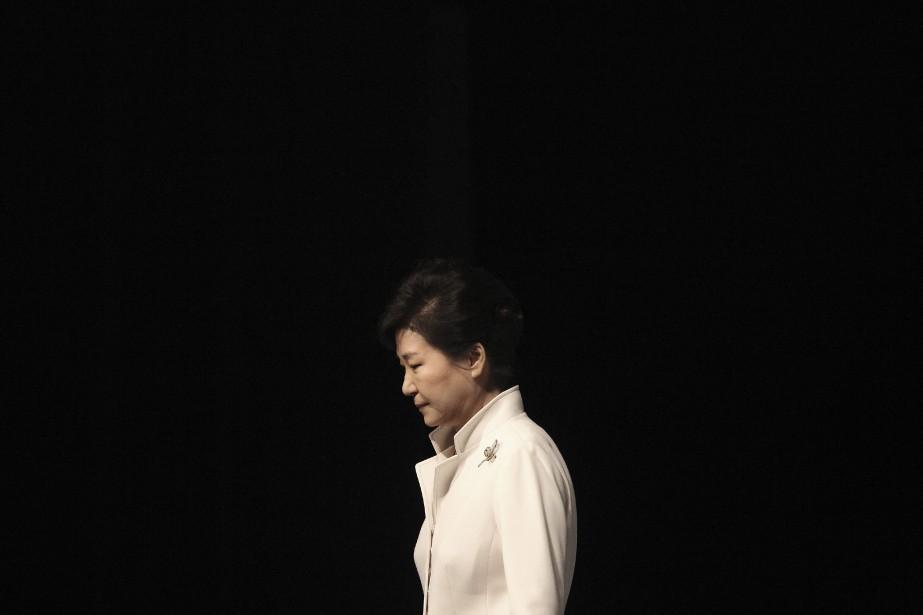 La présidente sud-coréenne destituée Park Geun-Hye... (Photo Ahn Young-joon, archives AP)