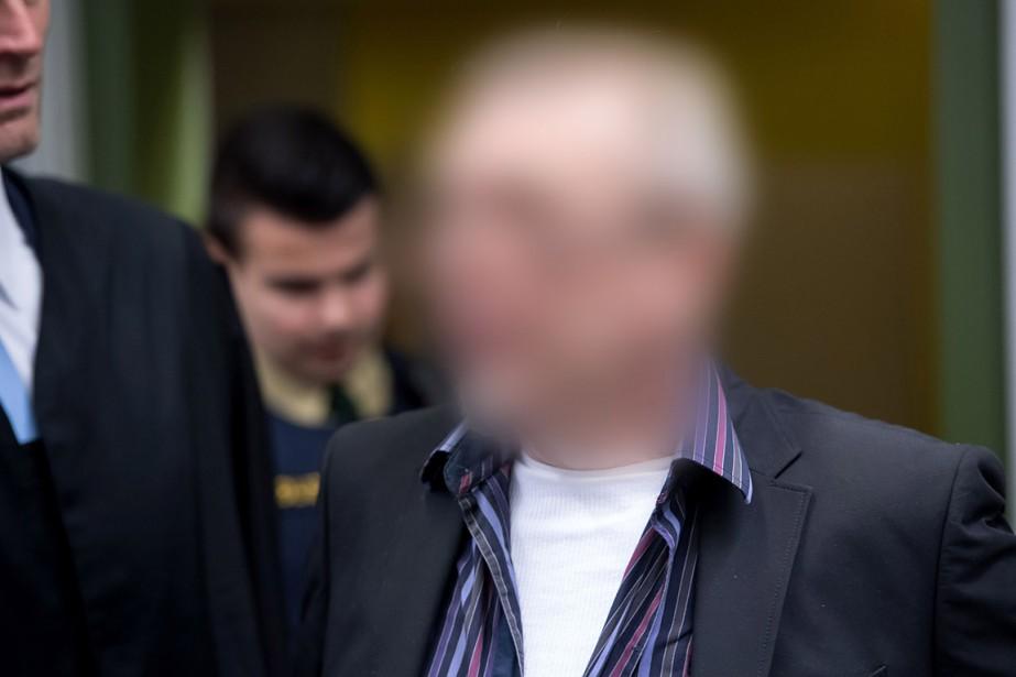 Le «président» Andreas H., 58ans, à son arrivée... (Sven Hoppe, AFP)