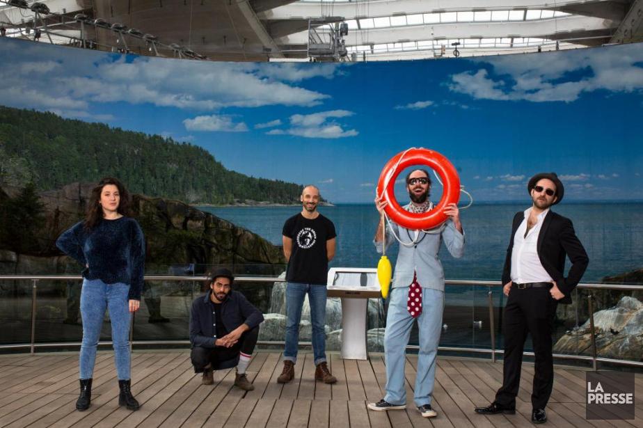 Virginie Fortin, Adib Alkhalidey, Guillaume Wagner et le... (PHOTO SIMON GIROUX, LA PRESSE)