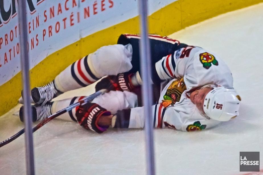Artem Anisimovs'est blessé mardi au Centre Bell.... (PHOTO ANDRÉ PICHETTE, LA PRESSE)