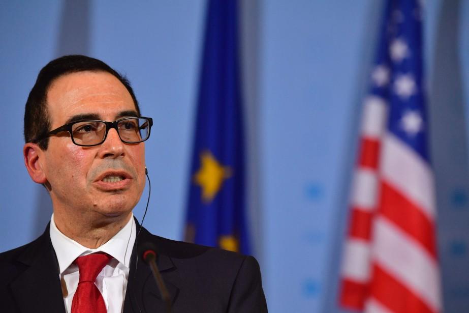 Le secrétaire au Trésor américain, Steven Mnuchin, en... (PHOTO John MACDOUGALL, AFP)