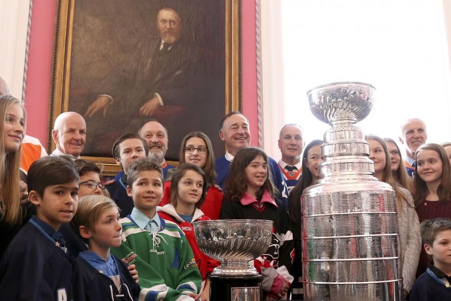 Rideau Hall célèbre le 125e anniversaire de la Coupe Stanley. | 16 mars 2017