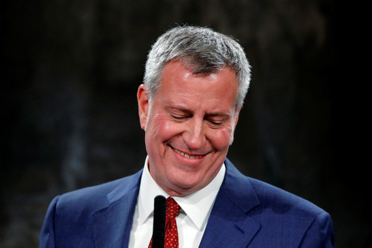 Bill de Blasio... (PHOTO REUTERS)
