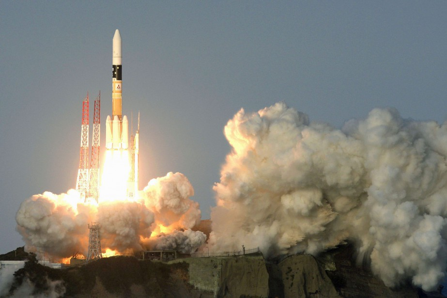 Il s'agissait du 33etir du lanceur H-2A dont... (PHOTO Ryosuke Uematsu, ARCHIVES AP/Kyodo News)