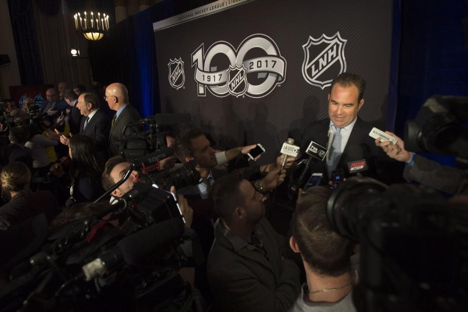 À l'issue de l'annonce, Geoff Molson s'est dit... (Photo Adrian Wyld, La Presse canadienne)