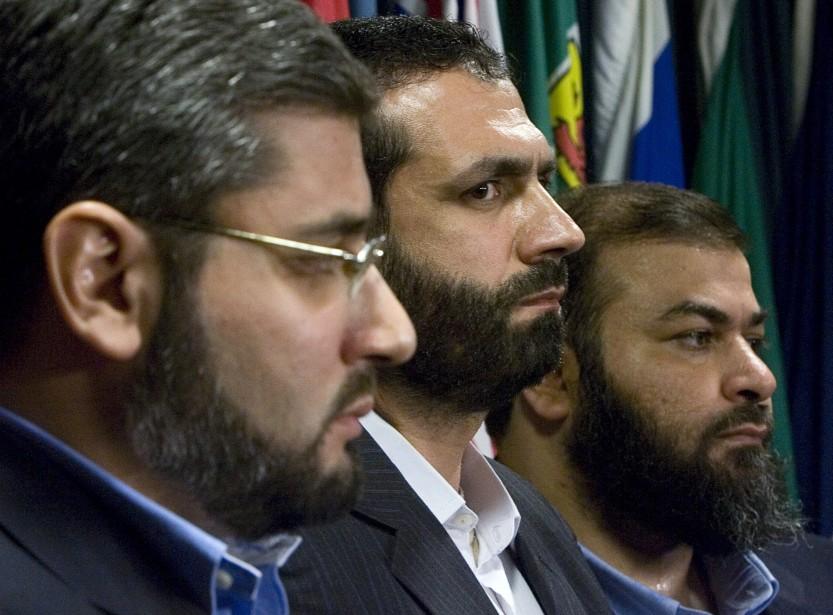 Abdullah Almalki, Muayyed Nureddin et Ahmad Abou-Elmaati... (PHOTO ARCHIVES LA PRESSE CANADIENNE)