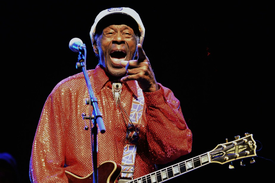 Chuck Berry... (Photo archives AFP)