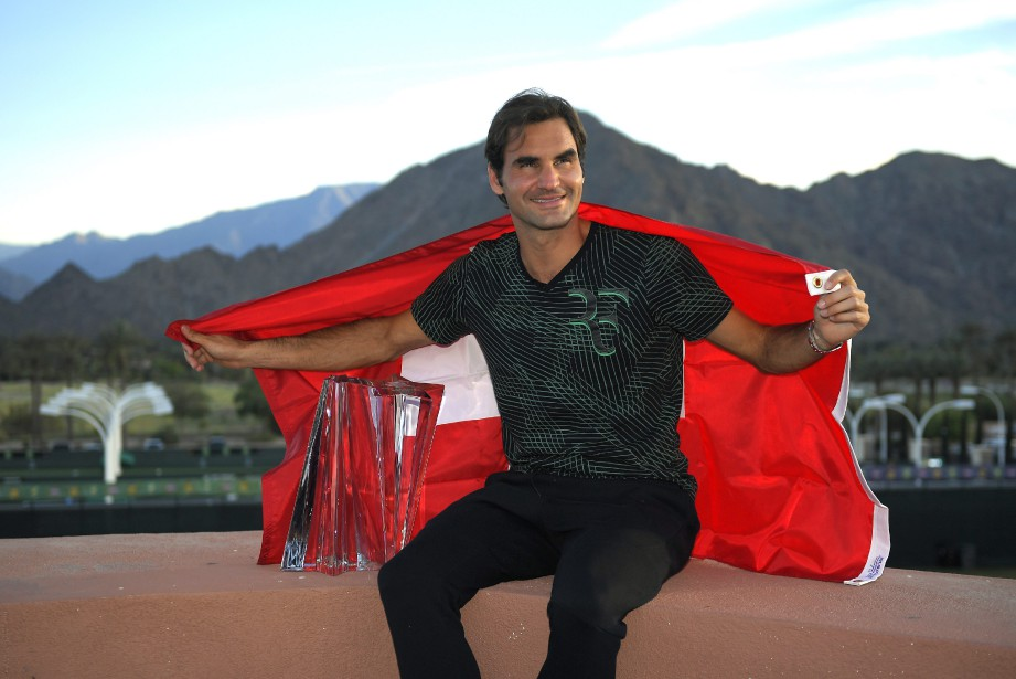 Roger Federer a remporté le tournoi d'Indian Wells,... (Photo Mark J. Terrill, AP)