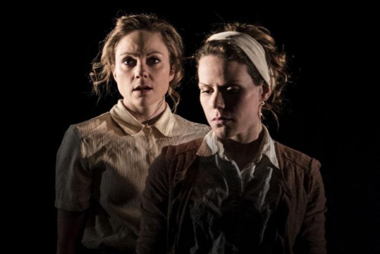 Les deux actrices, Marie-Pier Labrecque et Marie-Josée Samson,... (PHOTO FOURNIE PAR ANTONIN GOUGEON)