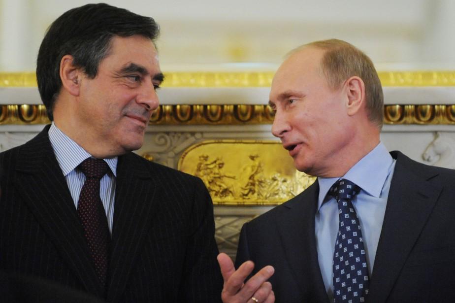 François Fillon et Vladimir Poutine se sont rencontrés... (ARCHIVES AFP)
