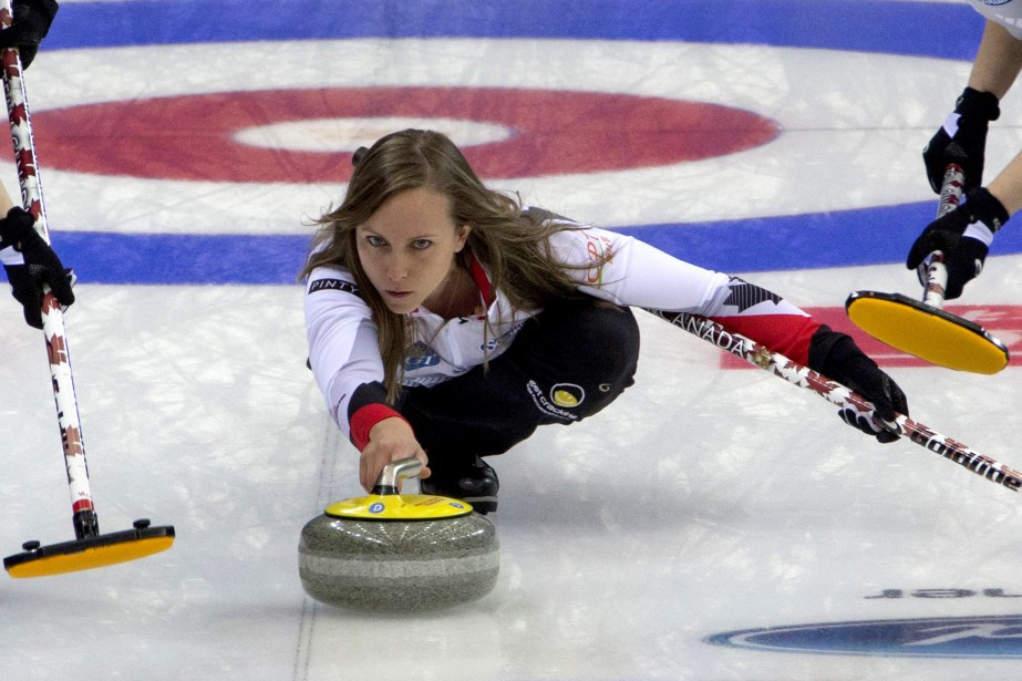 La skip de l'équipe canadienne, Rachel Homan.... (Photo Ng Han Guan, AP)