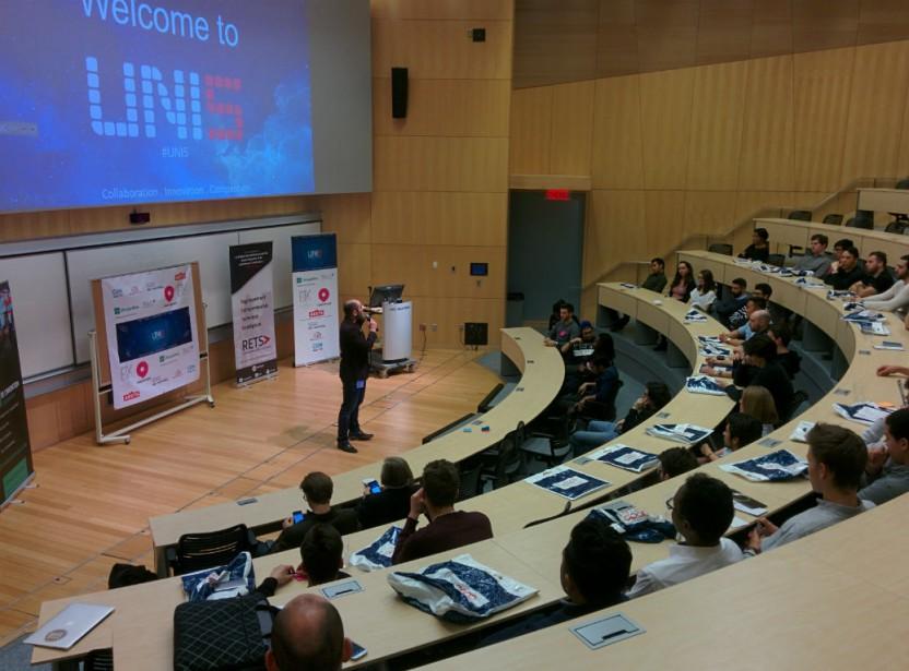 Ilias Benjelloun de Montréal NewTech annonce le programme... (Photo fournie par UNI5)