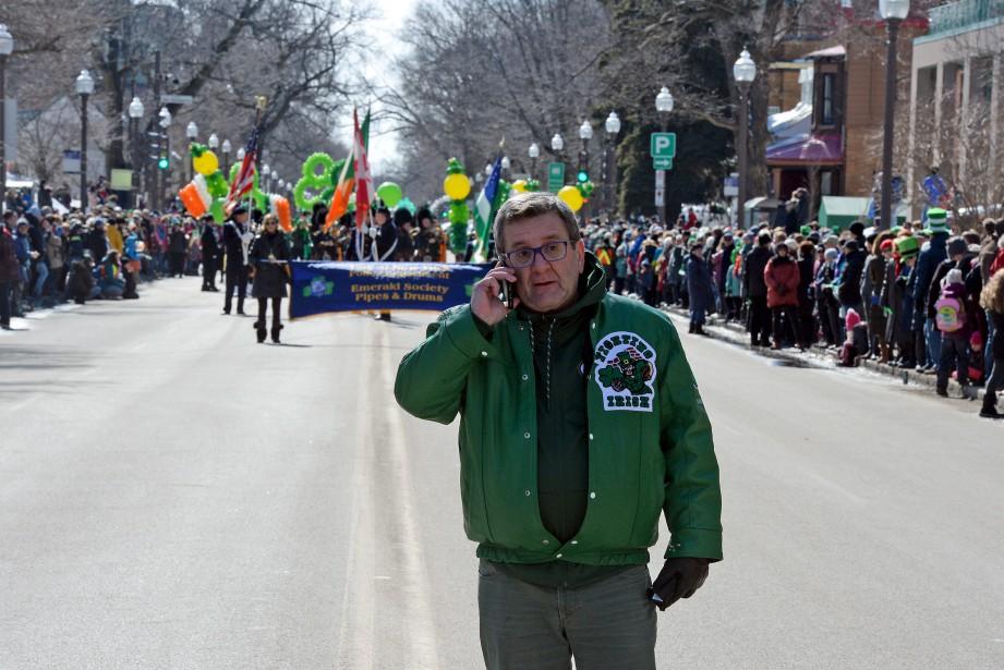 Le maire Labeaume était de la partie et veillait au bon déroulement du défilé. | 25 mars 2017