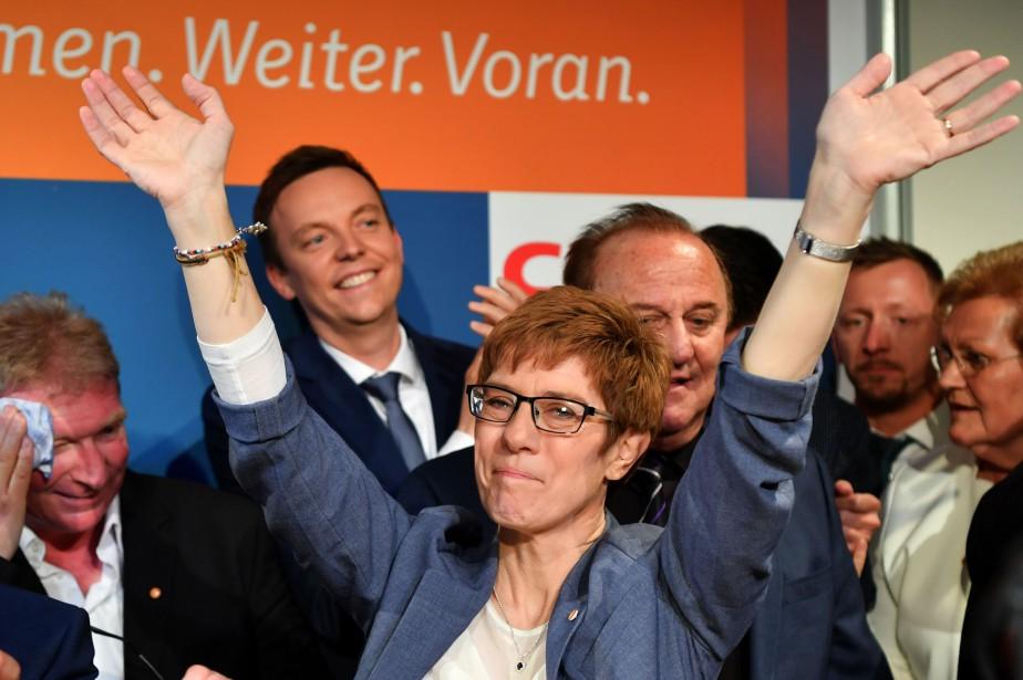 La cheffe de file locale du CDU en... (PHOTO AFP)
