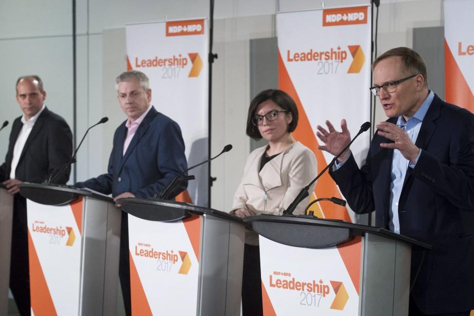 Les candidats à la direction du NPD Guy... (PHOTO GRAHAM HUGHES, ARCHIVES LA PRESSE CANADIENNE)
