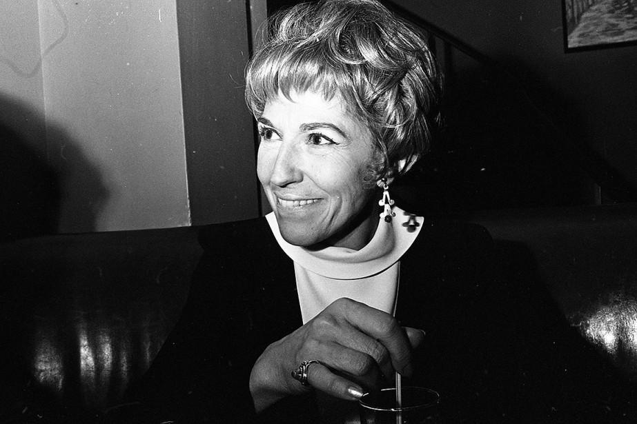 Janine Sutto, en décembre 1969. (Réal Saint-Jean, archives La Presse)