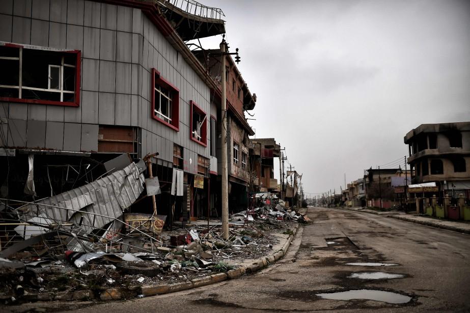 Le vide laissé dans la ville de Qaraqoshtémoigne... (AFP)