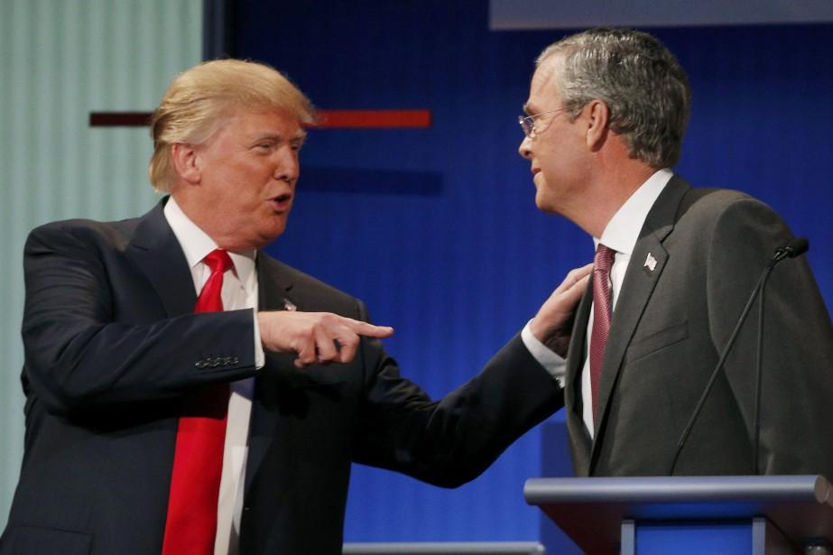 Donald Trump et Jeb Bush... (Photo Brian Snyder, archives Reuters)