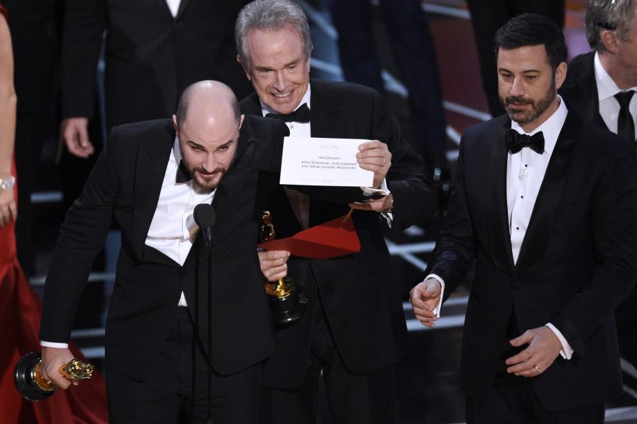 Une erreur d'enveloppe avait fait en sorte queLa... (Photo Chris Pizzello, archives Invision/AP)