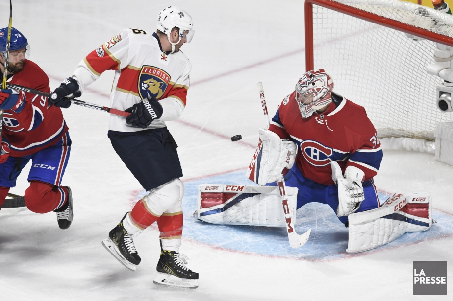 Carey Price bloque un tir face à Aleksander... (PHOTO BERNARD BRAULT, LA PRESSE)