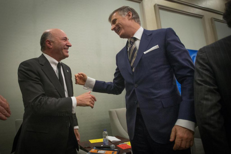 Kevin O'Leary et Maxime Bernier... (PHOTO OLIVIER JEAN, ARCHIVES LA PRESSE)
