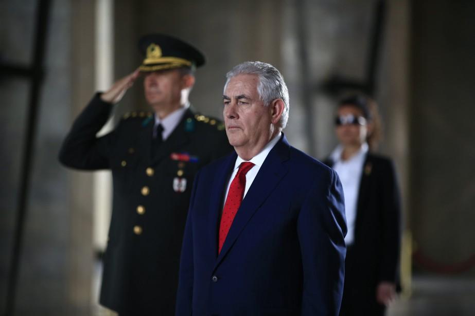 Le secrétaire d'État américain, Rex Tillerson... (PHOTO AP)