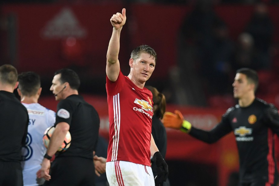 Bastian Schweinsteiger a quitté Manchester United pour se... (Photo Paul Ellis, archives AFP)