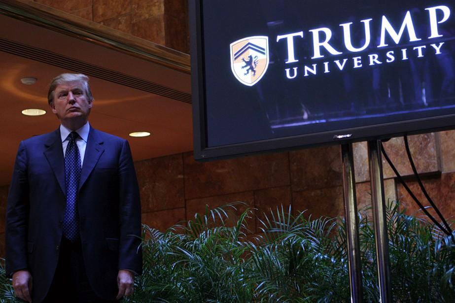 Donald Trump a annoncé la création de l'Université... (PHOTO ARCHIVES AFP/GETTY IMAGES)