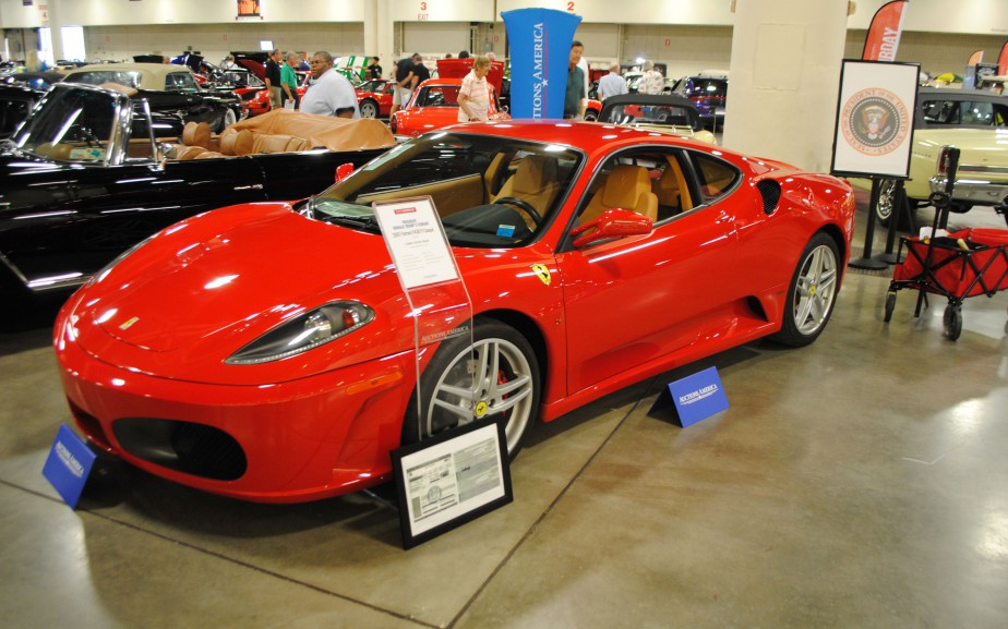 A Ferrari F430 owned by US president Donald...