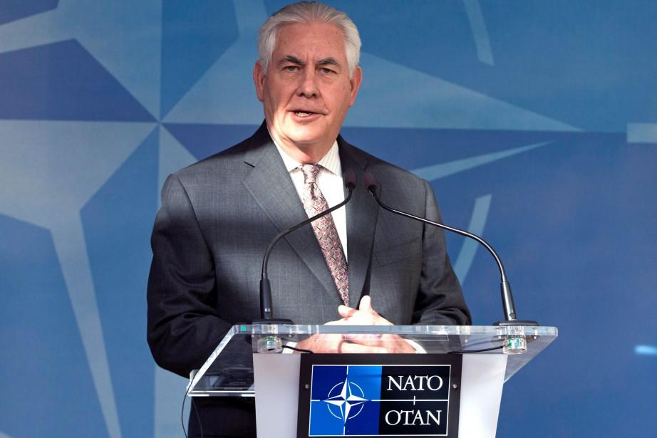 Le secrétaire d'État américain Rex Tillersona exigé de... (Photo Virginia Mayo, REUTERS)