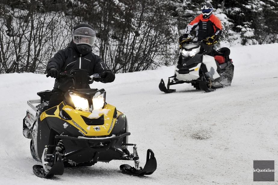 On compte plus de 100000 motoneigistes au Québec.... (Photo Rocket Lavoie, archives Le Quotidien)