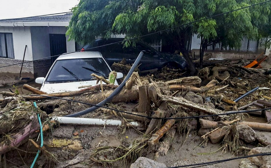 En plus des nombreux décès, les dommages matériels sont considérables à Mocoa. (AFP, EJERCITO DE COLOMBIA)