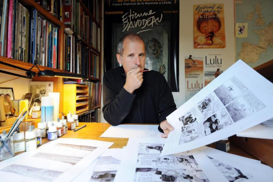 Etienne Davodeau, dessinateur de bandes dessinées, pose à... (Photo Frank Perry, archives Agence France-Presse)