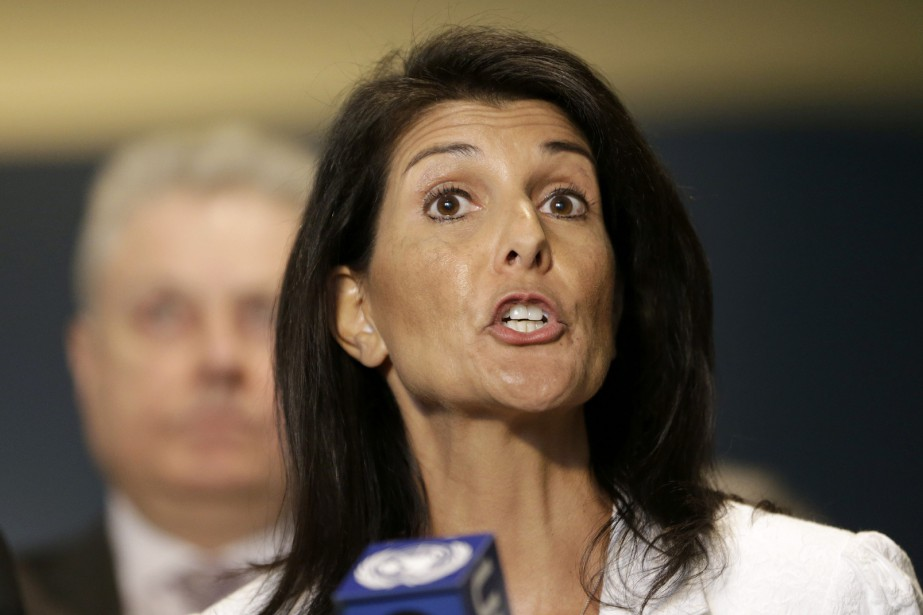 L'ambassadrice américaineNikki Haley a fait valoir qu'il n'y... (Photo Seth Wenig, AP)