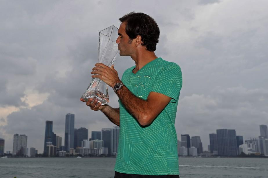 Roger Federer a remporté le tournoi de Miami,... (Photo Geoff Burke, USA Today Sports)