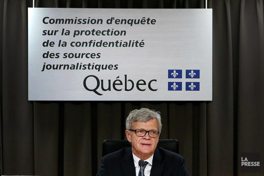 Le président de la Commission d'enquête sur la... (Robert Skinner, La Presse)