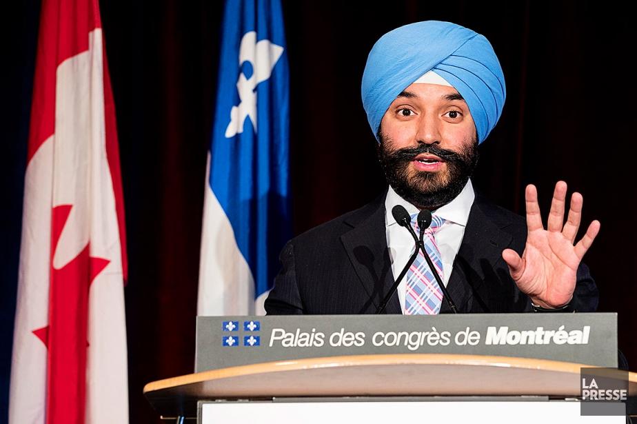 Le ministre fédéral de l'Innovation, Navdeep Bains, photographiélundi... (Alain Roberge, La Presse)