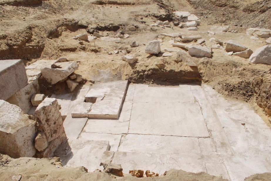 Les restes du monument funéraire ont été retrouvés... (photo AFP)