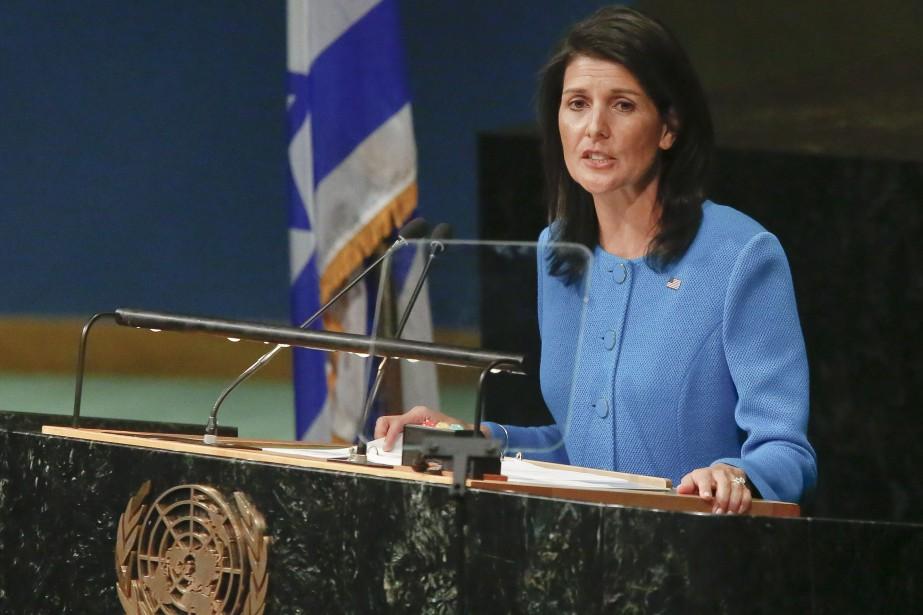 L'ambassadrice américaine à l'ONUNikki Haley espère organiser un... (Photo ebeto Matthews, AP)