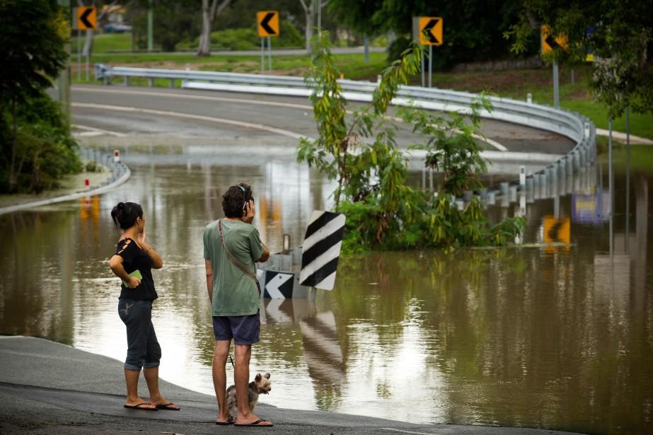 Le cyclone Debbie, de catégorie quatre sur une... (AFP)