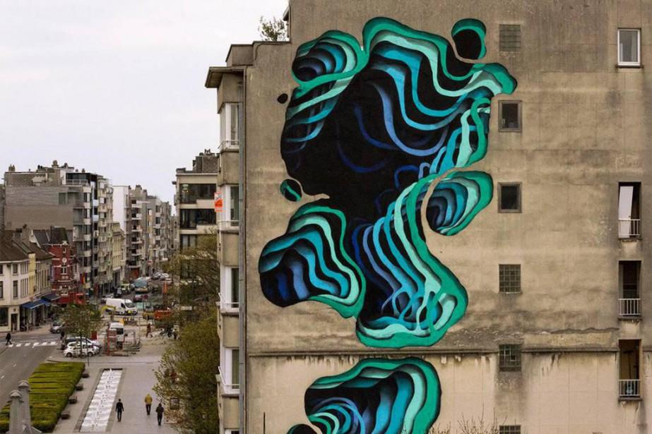 Illusion d'optique créée l'an dernier pour le CrystalShip... (Photo Henrik Haven, fournie par le festival Mural)