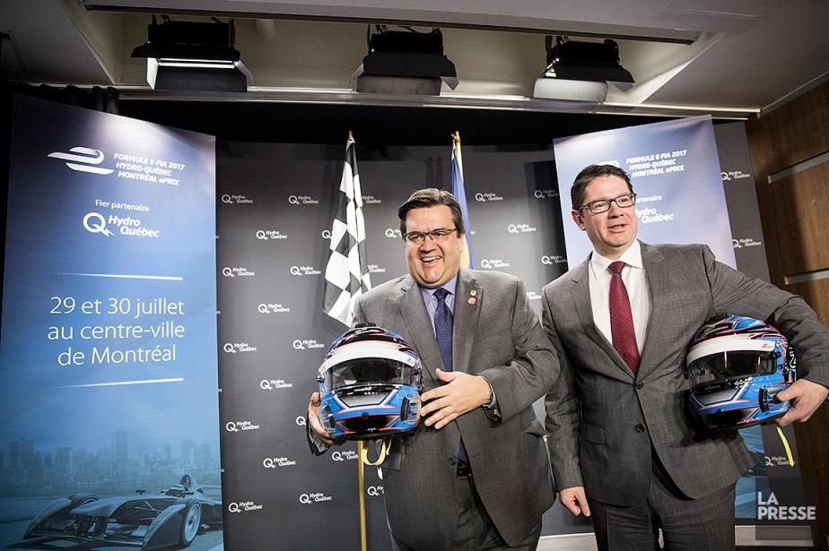 Le maire de Montréal Denis Coderre et le... (MARCO CAMPANOZZI, LA PRESSE)